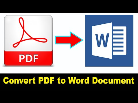 How To Convert PDF File To Word Document For Editing
