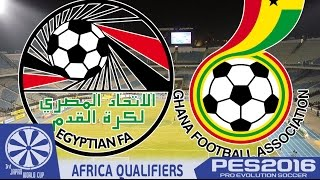 Egypt vs. Ghana - PES2016 - African Playoffs - 3rd Japan WCQ - 60fps