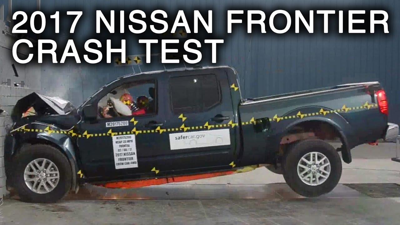 2017 nissan frontier crew cab frontal crash test youtube. Black Bedroom Furniture Sets. Home Design Ideas