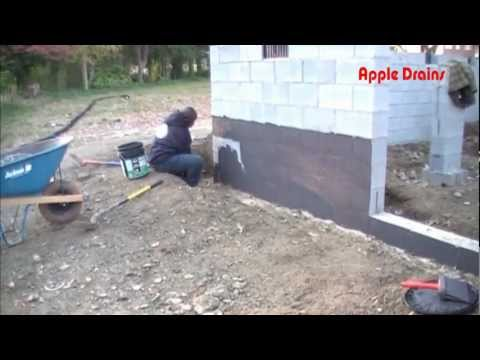Damp Proofing - Waterproofing.  Important steps to a dry foundation