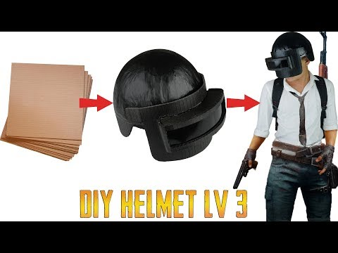 How To Make PUBG Level 3 Helmet From Cardboard | King OF Crafts
