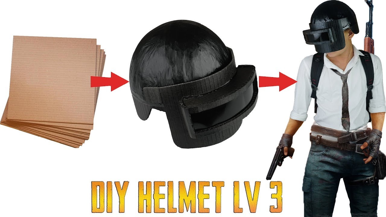 How To Make Pubg Level 3 Helmet From Cardboard King Of Crafts