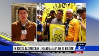 Con normalidad transcurrieron las marchas en Bogotá en el 'Día del Trabajo'