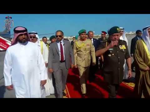 KETIBAAN SULTAN JOHOR DISAMBUT MERIAH DI BAHRAIN - 26 NOV 2017