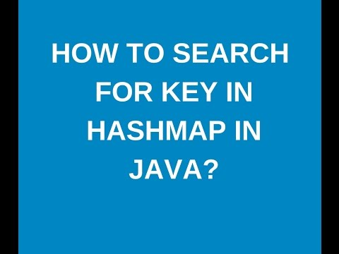 How To Search For A Key In Hashmap In Java?