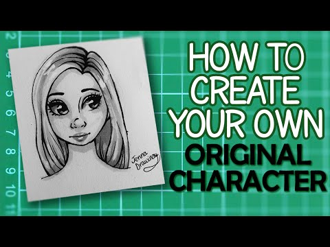 Concept Art Tutorial  Draw your own Female Original Character!  JennaDrawing
