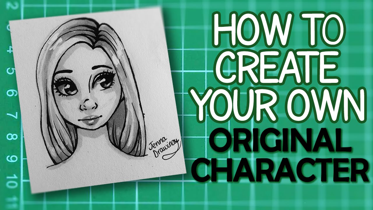 Concept art tutorial draw your own female original for How to make creative drawings
