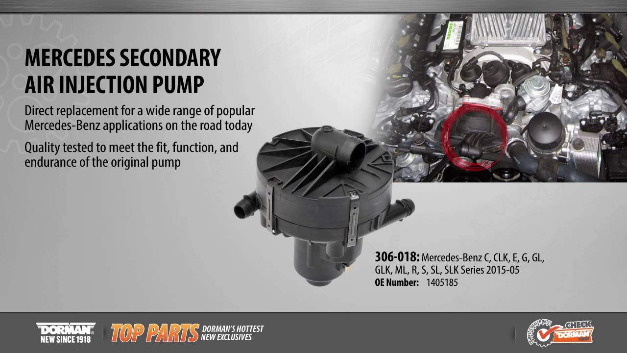 Secondary air injection pump youtube for Mercedes benz secondary air pump
