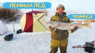 ПЕРВЫЙ ЛЁД 2020-2021. ПОЙМАЛИ БОЛЬШУЮ ЩУКУ на 7 кг. Открыли зимнюю рыбалку на реке Аршалы.