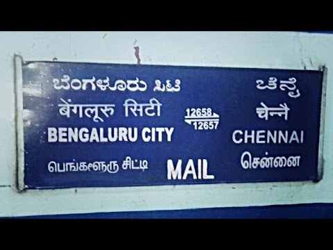 CHENNAI to BANGALORE : A Complete Train Journey in the NIGHT Mail (Indian Railways)
