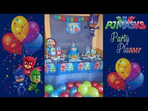 Idee E Tutorial Allestimento Festa Di Compleanno A Tema Pj Masks
