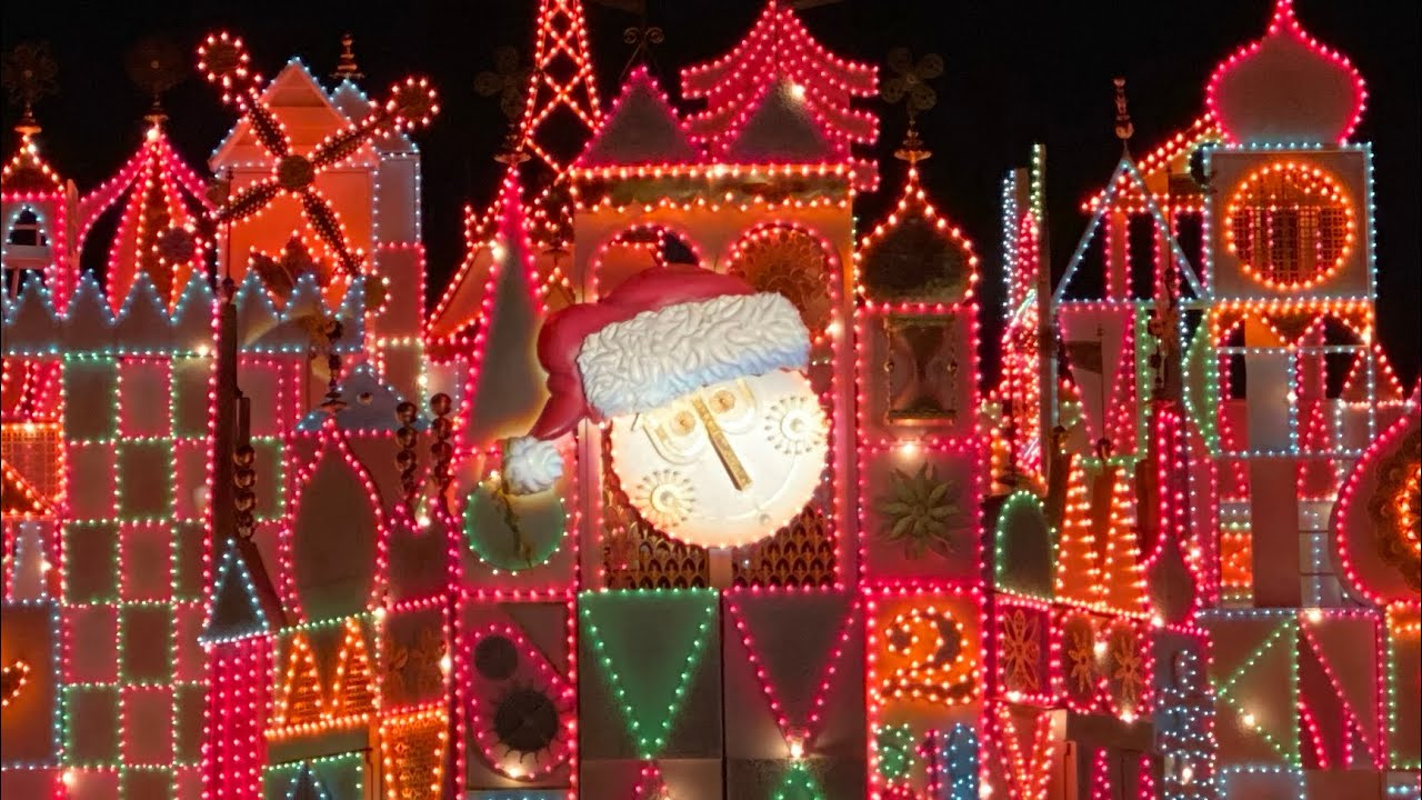 4k It S A Small World Holiday 2019 At Night Full Ride Christmas Lights Disneyland Resort Youtube
