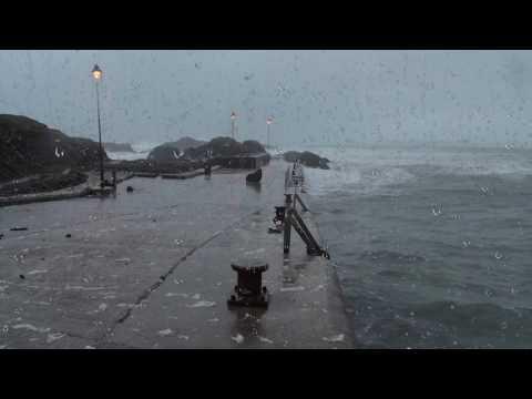 Storm Laut Terdengar Untuk Tidur Atau Belajar | Guntur, Gelombang, Angin Angin Hangat