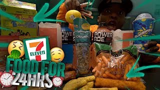Download I Only Ate Food From 7-ELEVEN For 24 HOURS !!! | DuB Family Mp3 and Videos