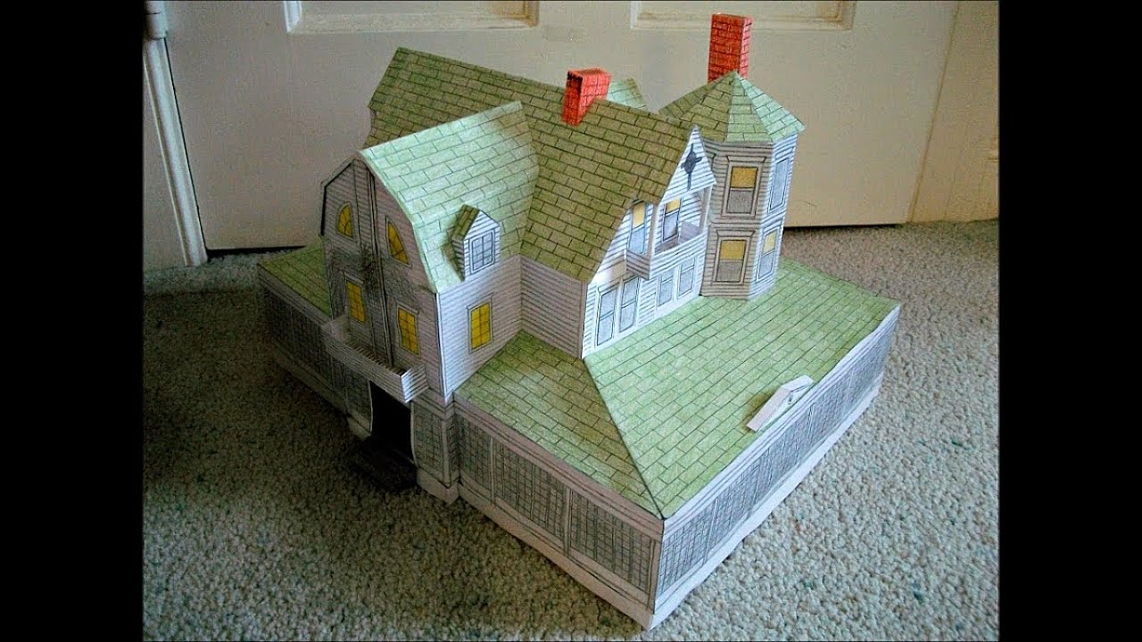 Papercraft Paper Model of the Amityville Horror House from the Movie