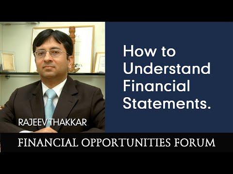 Mr. Rajeev Thakkar explains how to Understand Financial Statements.