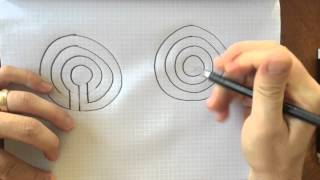 How to Draw 3 and 5 Circuit Concentric Classical Labyrinths