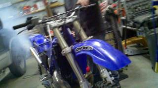 98 yz250 first start up after topend rebuild namura piston kit