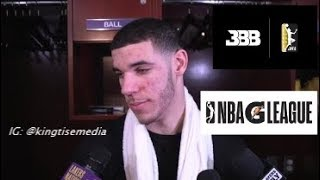 Lonzo Ball CALLS OUT The NBA For Stealing LaVar Ball JBA Idea w/ G League Program Paying Prospects