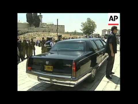 ISRAEL: JERUSALEM: ROMANIAN PRIME MINISTER RADU VASILE VISIT