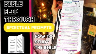 BIBLE FLIP THROUGH/STEP BY STEP ON HOW TO READ THE BIBLE AND STUDY/ JOURNAL PROMPTS