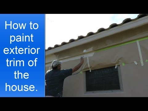 How To Paint Exterior House Trim Using A Spray Gun You