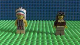 Обзор ЛЕГО минифигурки 3 серия ( Вождь индейцев , Путешественник )