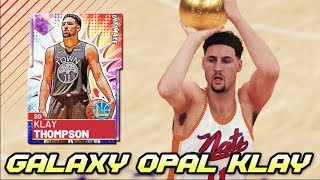 99 3 POINT GALAXY OPAL KLAY THOMPSON GAMEPLAY!! *HOF LIMITLESS RANGE* | NBA 2K19 MyTEAM