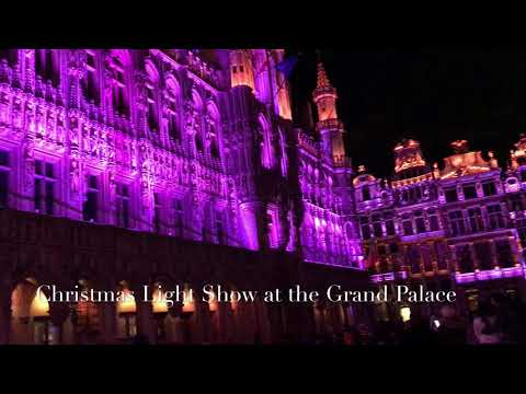 Christmas Light Show at the Grand Palace in Brussels 2017