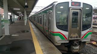 磐越西線E721系 会津若松発車