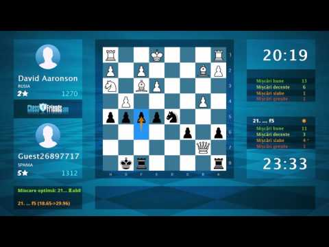 Chess Game Analysis: David Aaronson - Guest26897717 : 0-1 (By ChessFriends.com)