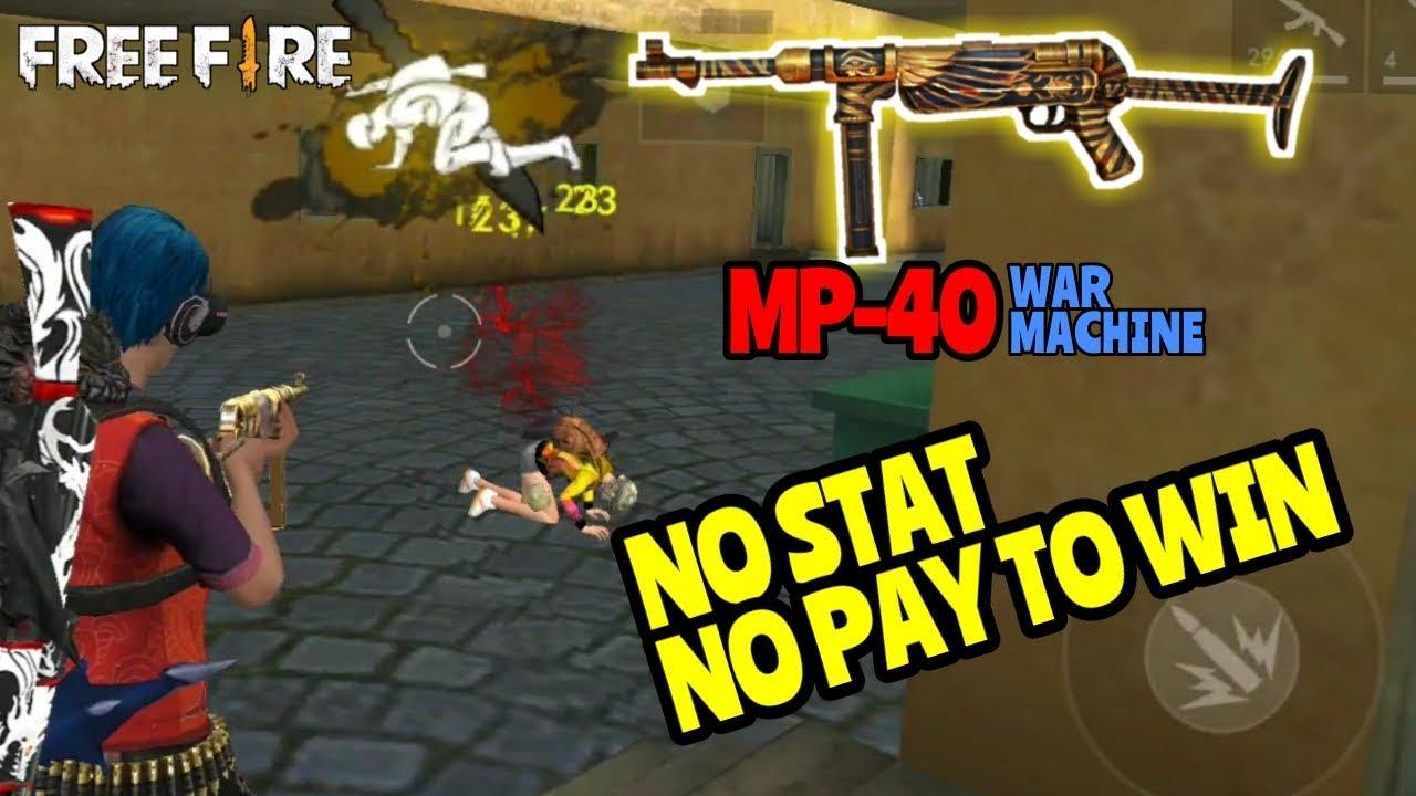 new skin mp 40 anti pay to win!! free fire battleground youtubefreefire freefireindonesia freefirebattleground