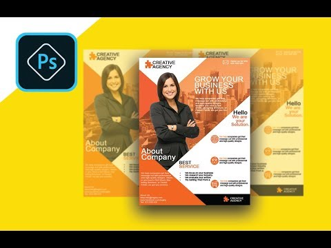 How to Create a Professional Flyer in Photoshop   (Business Flyer)
