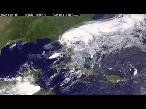 Tropical Storm Debby Moves into Atlantic