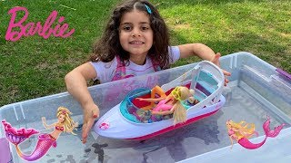 Sally Buys Barbie Doll Boat Adventure Toy for kids!!