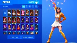 FORTNITE NEW GLITTER DANCE EMOTE ON 50+ FEMALE SKINS