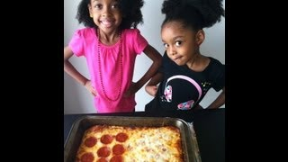 ✿‿✿ Cute kids show you how to make Homemade Pizza