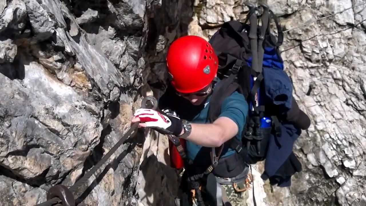 Klettersteigset Zugspitze : Zugspitze über höllental und klettersteig youtube