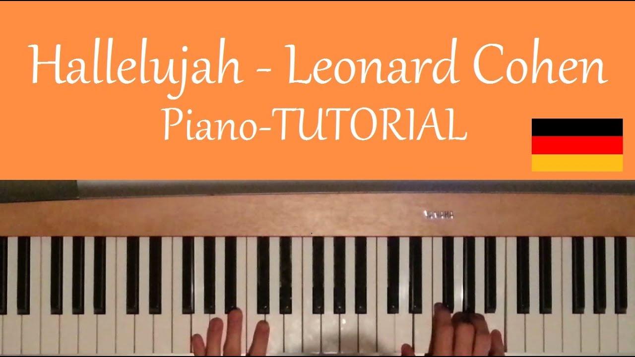 Wie Man Hallelujah Von Leonard Cohen Auf Piano Klavier Spielt