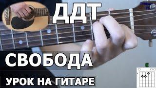 Как играть ДДТ - Я еду к тебе (свобода) (Видео урок)