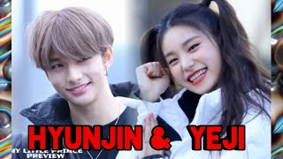 Cover images ( ITZY - STRAY KIDS) Hyunjin & Yeji moment