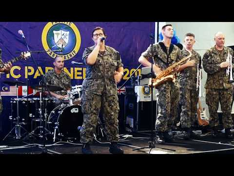 U.S. Pacific Fleet Band Plays at Viva City Mall During Pacif