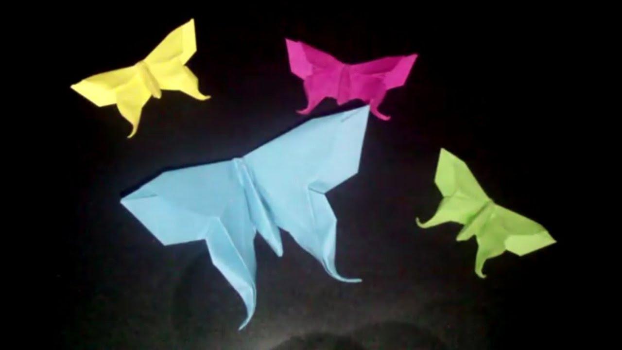 Origami Butterfly: Papierschmetterling - Faltanleitung [HD ... - photo#32