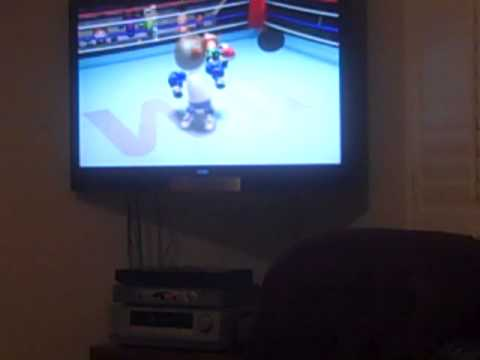 WII Sports Boxing at jimmy dog