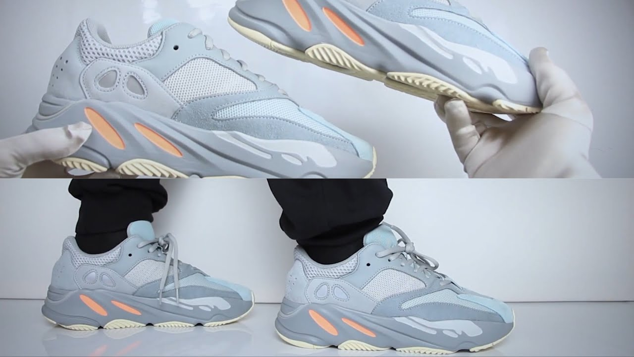 Adidas Yeezy Boost 700 Inertia (review)   UNBOXING & ON FEET