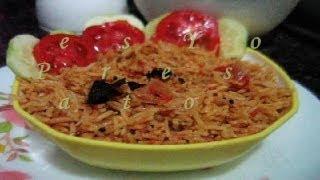 Tangy Tomato Rice - Tamatar Pulao