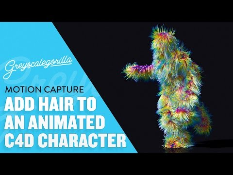 Cinema 4D Tutorial - Add Hair To An Animated Character