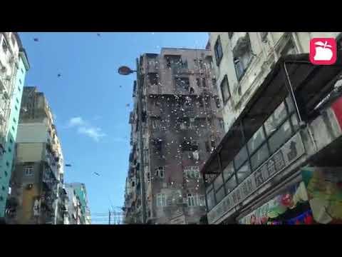 Hong Kong money falling from sky