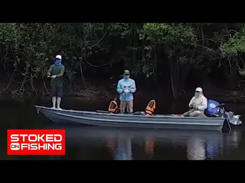 Fishing For Monster Amazon Peacock Bass Part One   Stoked On Fishing  