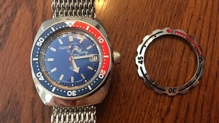 Vostok Amphibia Pepsi Bezel & Band Modifications